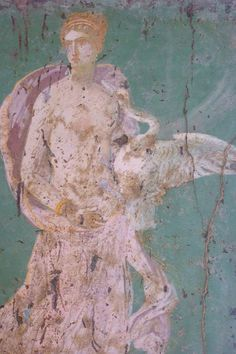 Roman fresco depicting Leda and the Swan recovered from Vesuvian Ash in Stabiae 1st century BCE-1st century CE (20) | par mharrsch