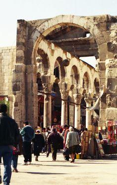Roman Colonnade, Damascus, Syria