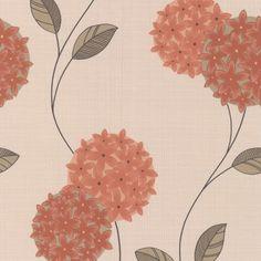 Graham & Brown Pippa Wallpaper Orange / Cream