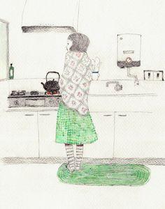 I'm loving these illustrations by artist Kimino Kayoko. So soft & cute! Kimino Kayoko is another amazing illustrator from Japan. Art And Illustration, Illustrations And Posters, Drawing S, Painting & Drawing, Art Drawings, Art Graphique, Art Plastique, Oeuvre D'art, Chinoiserie