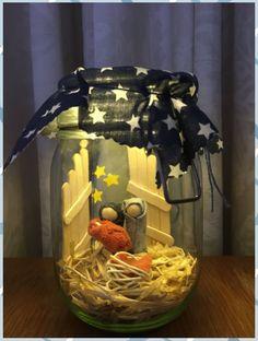 christmas scenes Krippe im Glas - Nativity Crafts, Christmas Nativity, Christmas Crafts For Kids, Homemade Christmas, Christmas Projects, Kids Christmas, Holiday Crafts, Christmas Gifts, Christmas Decorations