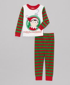 094646a2b5 Take a look at this Red   Green Stripe Elf on the Shelf Pajama Set - Toddler    Kids on zulily today!