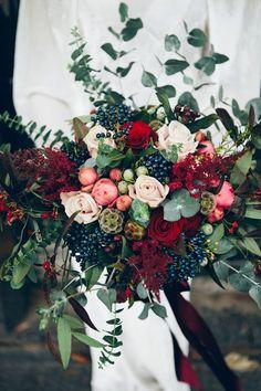 This Dark Floral Palette Is Taking Over Winter Wedding Season via Brit + Co