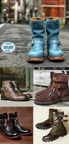 Men's Boots, Bean Boots, Red Wing Engineer Boots, Mens Hippie Shirts, Retro Men, Clothing Co, Chic Outfits, Designer Shoes, Footwear