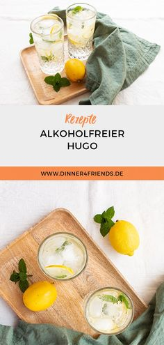 #alkoholfrei #Hugo #rezept #dinner4friends #mocktail #drink