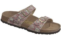 Papillio Sydney  Kaleidoscope Multi Birko-Flor  $79     Two thinner, contoured straps make this style very comfortable for those with prominent foot bones. Creative patterns and materials set the Papillio Sydney apart. The cork footbed is sculpted to match your arches providing support and all-day comfort. EVA soles are flexible, lightweight, durable and resoleable.
