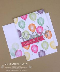 balloon builder stampin up - Google Search