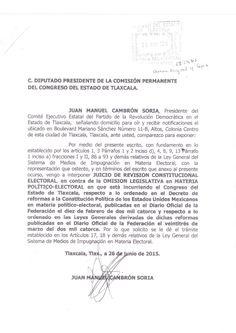 Recurre PRD ante la SCJN por omisión de Congreso  de Tlaxcala en materia electoral