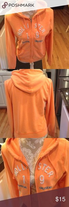 Hollister Orange Hoodie Hollister 19 Coastal Cruises Hollister Tops Sweatshirts & Hoodies