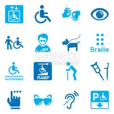Vector File of Disability Icons | Color Series related vector icons for your design or application. Raw style. Files included: vector EPS, JPG, PNG. See more in this series.