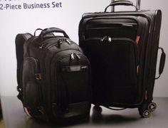 "SAMSONITE PROWLER GT 2-PIECE BUSINESS SET 21.6"" SPINNER + BUSINESS BACKPACK NEW…"