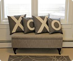 XOXO Valentine's Pillow Covers