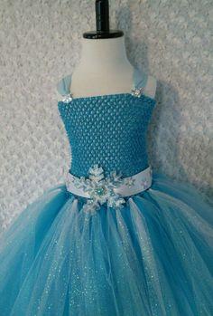 Little Girl tutu dress/ Elsa/ Frozen tutu dress with cape/Pictures/ knee length #Handmade #DressyEverydayHolidayPageantWedding