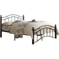 Abigail Brown Metal Platform Bed, Multiple Sizes