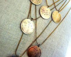 Zodiac Constellation Necklace Constellation door OneEighteenJewelry