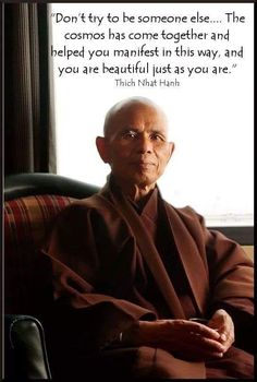 Thich Nhat Hanh, Soul Quotes, You Are Beautiful, Buddhism, Self Love, Quotations, Zen, Meditation, Spirituality