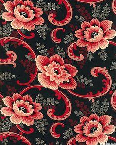 Vivaldi - Vivacious Vintage Floral - Black