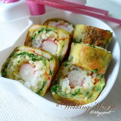 Rice in Egg Roll, video included