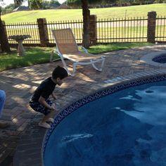 He loves swimming!