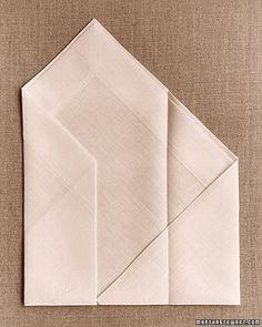 Tutorial on how to fold napkins into envelopes