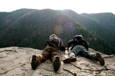 overlooking a cliff in Slovensky Raj, or Slovak Paradise. Adventure Awaits, Adventure Travel, Harry Potter Next Generation, The Mountains Are Calling, Adventure Is Out There, Outdoor Life, Go Outside, Oh The Places You'll Go, Backpacker