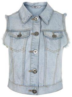 Petites Light Denim Gilet - Jeans & Denim - Clothing - Miss Selfridge - StyleSays