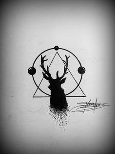 Deer design... geometric dsign
