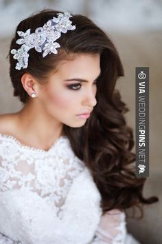 glamorous wedding hairstyles with lace and pearl bridal headpiece Wedding Hair And Makeup, Bridal Makeup, Hair Makeup, Hair Wedding, Wedding Blog, Wedding Bride, Wedding Ideas, Wedding Veils, Bridal Beauty