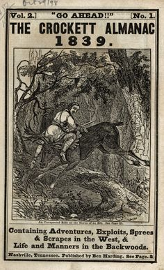 The Crockett Almanac, 1839.