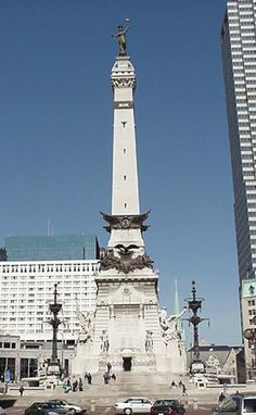 Indianapolis, IN - Soldiers and Sailors Monument.  The monument was erected to honor Hoosiers who were veterans of the American Revolution, territorial conflicts that partially led up to the War of 1812, the Mexican-American War, the US Civil War, and the Spanish American War. In addition to its external commemorative statuary and fountains, the basement of the monument contains the Colonel Eli Lilly Civil War Museum.  At the top of the monument is an observation deck.