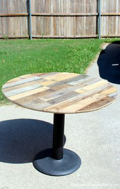 pallet pedestal table