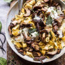 Herby Buttered Wild Mushroom Tagliatelle Pasta   halfbakedharvest.com @hbharvest