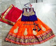 Orange Purple Pink Ghagra - Indian Dresses