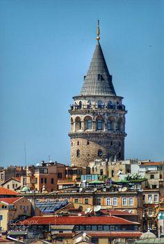 Galata Tower watching us since 528 - Photo: Suleyman Sonmez  www.suleymansonmez.com  twitter:ssonmez  instagram: suleymansonmez  500px :https://500px.com/suleymansonmez