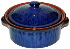 Amazing Cookware 1 Litre Terracotta Casserole Dish - 'Reactive Blue' >>> Review more details here : Bakers and Casseroles