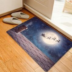 twinkledeals Christmas Rugs, Christmas Night, Area Rugs, Carpet, Flooring, 3d, Pattern, Home Decor, Rugs