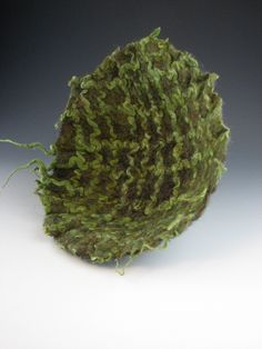 Wet felted wool and hemp bowl Demalia Creations