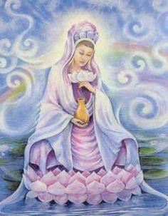 Kuan Yin, Bodhisattva of Compassion Sathya Sai Baba, Wicca, Magick, Sacred Feminine, Divine Feminine, Ascended Masters, Divine Mother, Taoism, Guanyin