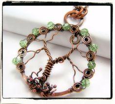 008 antiguo cristal verde Faerie cobre alambre por FashionWire