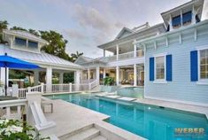 Captiva House Plan: 2 story home floor plan. Old Florida and California coastal styles blended with cabana suite & Caribbean architectural features, see beautiful photos of finished interior and exterior.
