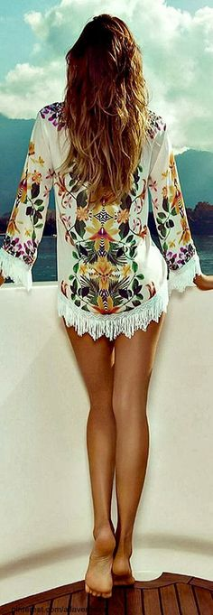 Summer Floral Cover-up