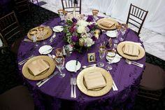 purple and gold wedding cakes   ... , San Ramon - California - Full Wedding Reception Decor   Weddingbee