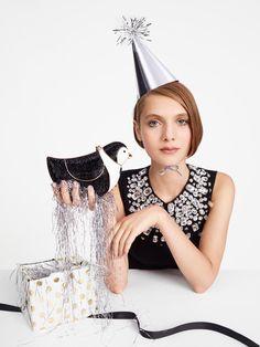 Sasha Frolova in the Kate Spade holiday 2015 campaign. Photo: Kate Spade.