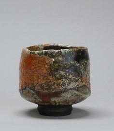 Tom Coleman, tea bowl, shino glaze