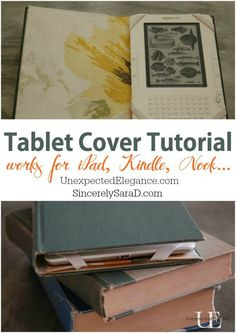 See how easy it is to make your own iPad, Kindle or Nook cover using an old book! Watch this step by step video with instructions.