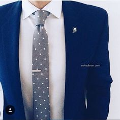 Mens outfit polkadot tie