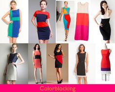 Sewing inspiration - Colorblocking