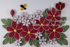 Quilling by catrulz Quilling Flowers Tutorial, Quilling Patterns, Quilling Designs, Quilling Ideas, Quilled Paper Art, Quilling Paper Craft, Paper Crafts, Quilling Christmas, Quilled Creations