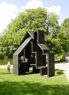 FOLLY by Gerard de Hoop, via Behance. I like this because it becomes a functional sculpture in the landscape.