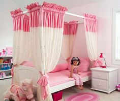 extraordinary-stunning-room-color-ideas-for-teenage-girls-pink-girls-bedrooms-design-decorations-with-two-drawer-chest-and-rugs-feats-white-vanity
